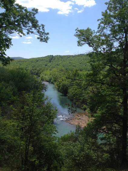 Mulberry River from Hwy. 215 Overlook
