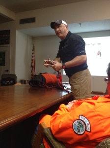 D. Sutter trains FCSAR members on how to hook up 4:1 haul system