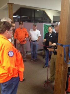 FCSAR Team Members training on 4:1 haul system